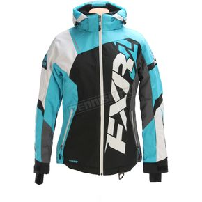FXR Racing Women's Black/Aqua/White Tri Revo X Jacket - 170216-1050-16