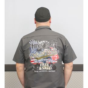 Dennis Kirk Inc. Dark Gray 2017 Patriot Ride Mechanic Shirt - SP24-CHAR-MD