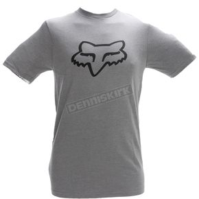 Fox Heather Graphite Legacy Fox Head T-Shirt - 14222-185-S