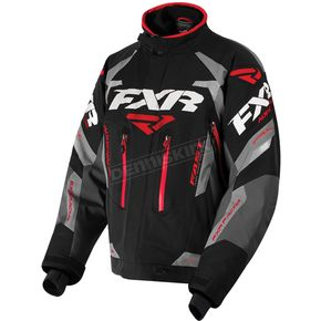 FXR Racing Black/Charcoal/Gray/Red Adrenaline Jacket - 180002-1020-22