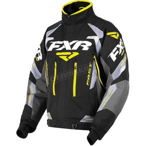 FXR Racing Black/Charcoal/Gray/Hi-Vis Adrenaline Jacket - 180002-1065-19