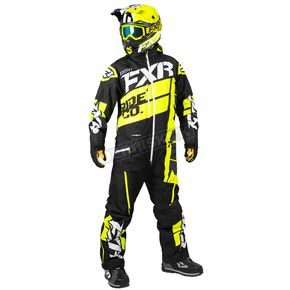 FXR Racing Black/Hi-Vis Boost Lite Monosuit - 182817-1065-13