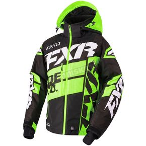FXR Racing Black/Lime/White Boost X Jacket - 180029-1070-10