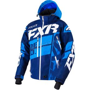 FXR Racing Navy/Blue/White Boost X Jacket - 180029-4540-16