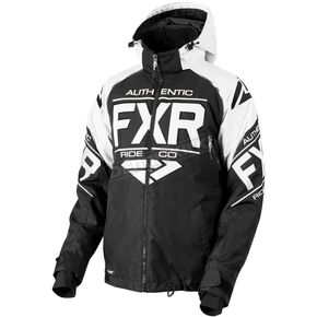 FXR Racing Black/White Clutch Jacket - 180030-1001-04