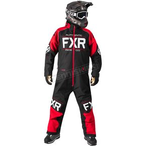 FXR Racing Black/Red Clutch Monosuit - 182812-1020-10