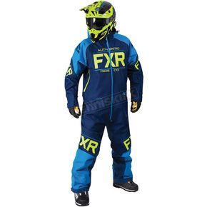 FXR Racing Navy/Blue/Hi-Vis Clutch Monosuit - 182812-4540-07