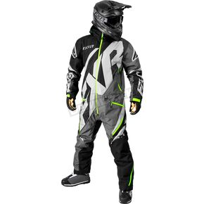 FXR Racing Black/Charcoal/Gray/Lime CX Lite Monosuit - 182807-1008-13