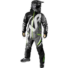 FXR Racing Black/Charcoal/Gray/Lime CX Insulated Monsuit - 182808-1008-19