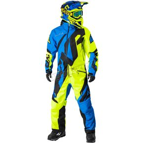 FXR Racing Blue/Hi-Vis/Black CX Lite Monosuit - 182807-4065-16