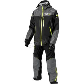 FXR Racing Black/Charcoal/Hi-Vis Elevation Dry-Link 2 pc. Lite Monosuit - 182803-1008-07