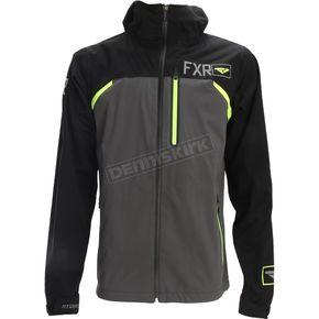 FXR Racing Black/Hi-Vis Force Dual.5 Laminate Jacket - 172000-1065-16