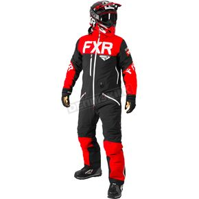 FXR Racing Black/Red/White Helium Lite Tri-Lam Monosuit - 182800-1020-19