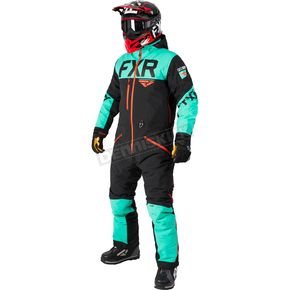 FXR Racing Black/Mint/Nuke Red Helium Lite Tri-Lam Monosuit - 182800-1052-13