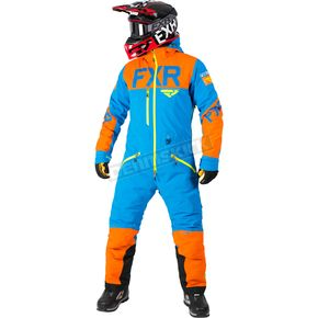 FXR Racing Blue/Orange/Hi-Vis Helium Lite Tri-Lam Monosuit - 182800-4030-13