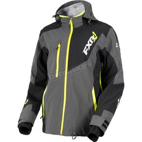 FXR Racing Charcoal/Black/Hi-Vis Mission Lite Tri-Lam Jacket - 180014-0810-19