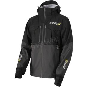 FXR Racing Black/Charcoal R1 Pro Tri-Laminate Jacket - 172001-1008-22