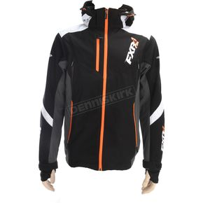 FXR Racing Black/White/Orange Renegade Tri-Laminate Softshell Jacket - 180907-1001-16