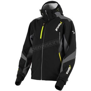 FXR Racing Black/Charcoal/Hi-Vis Renegade Tri-Laminate Softshell Jacket - 180907-1008-22