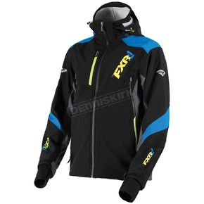 FXR Racing Black/Blue/Hi-Vis Renegade Tri-Laminate Softshell Jacket - 180907-1040-19