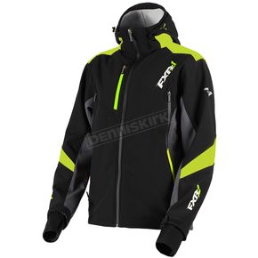 FXR Racing Black/Lime Renegade Tri-Laminate Softshell Jacket - 180907-1070-10