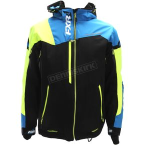 FXR Racing Black/Blue/Hi-Vis Renegade X Jacket - 180018-1040-16