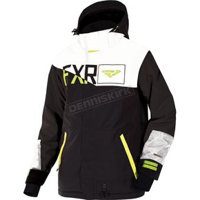 FXR Racing Black/White/Hi-Vis Squardron Jacket - 180023-1001-13