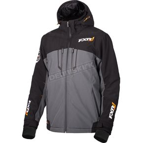 FXR Racing Charcoal/Black Vertical Pro Insulated Softshell Jacket - 180904-0610-16