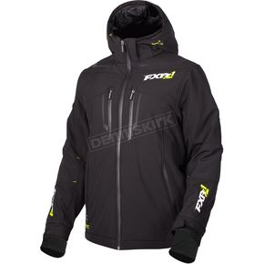 FXR Racing Black Vertical Pro Insulated Softshell Jacket - 180904-1000-22