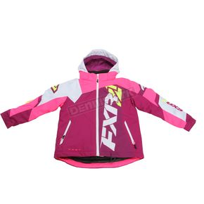 FXR Racing Child's Wineberry/White Weave/Electric Pink Revo X Jacket - 170411-8594-06
