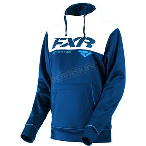 FXR Racing Navy/White Pursuit Tech Pullover Hoody - 181102-4501-19