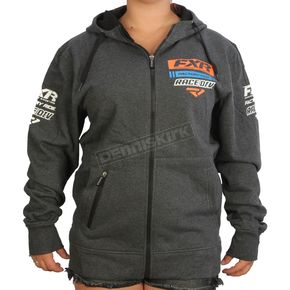 FXR Racing Charcoal Heather/Orange Race Division Zip Hoody - 173320-0630-19