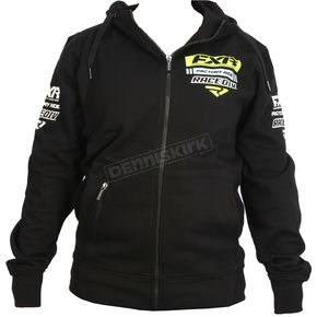 FXR Racing Black/Hi-Vis Race Division Zip Hoody - 173320-1065-13