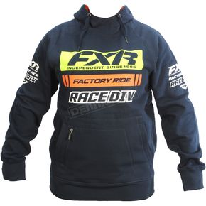 FXR Racing Navy/Orange Race Division Pullover Hoody - 173321-4530-10