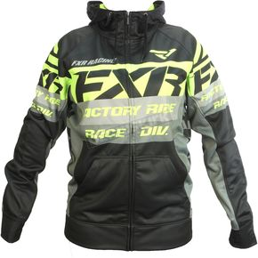 FXR Racing Black/Hi-Vis Race Division Tech Zip Hoody - 172013-1065-13
