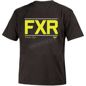 FXR Racing Youth Black/Hi-Vis Clutch Classic T-Shirt - 181500-1065-13