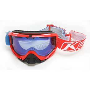 Klim Red/Blue Radius Nemesis Goggles w/Smoke Blue Mirror Lens - 7001-002-000-001