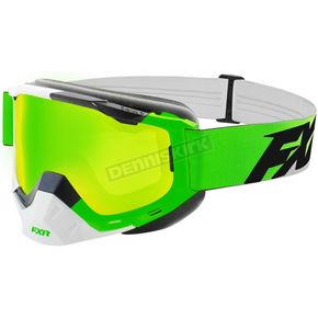 FXR Racing Lime/White/Black Boost Speed Goggles - 183100-7001-00