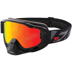 FXR Racing Black Ops Boost XPE Goggle w/Smoke Lens w/Solar Finish - 183100-1010-00