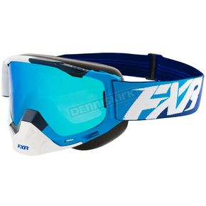 FXR Racing Blue/White/navy Boost XPE Goggle w/Smoke Lens w/Solar Finish - 183100-4001-00
