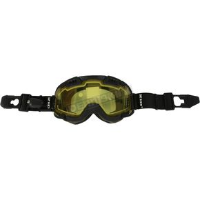 Black 210 Degree Backcountry Electric Goggles w/Yellow Lens - 120154#