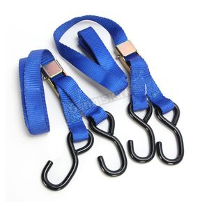 Parts Unlimited Blue Heavy Duty 7 ft. Cam Buckle Tie Downs - 3920-0423