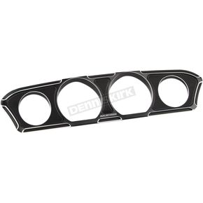 Arlen Ness Black Beveled Inner Fairing Gauge Trim - 30-331