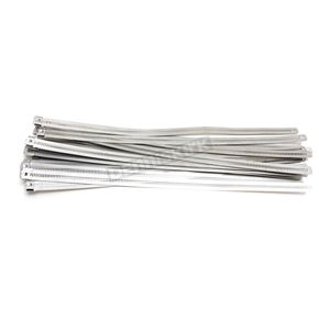 Cycle Performance Silver 14 in. Ladder Style Fat-Width Stainless Steel Tie Wraps - CPP/9177-20