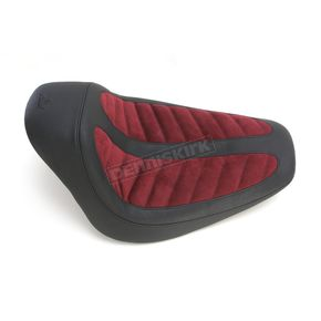 Mustang Seats Black/Maroon Fred Kodlin Signature Series Solo Seat - 76278