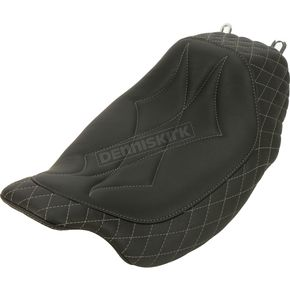 Gun Metal Diamond-Stitch Revere Journey Solo Seat - 75130GM
