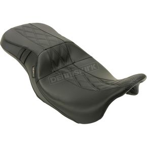 Black Perforated Outcast Gt Double Diamond 2-Up Seat - LK-997GT2