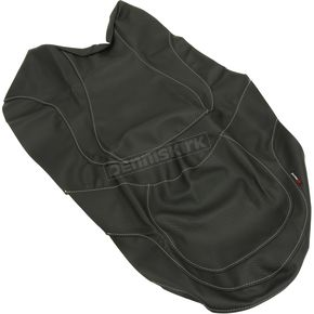 Black Carbon Gray Stitch Seat Cover - SB-B01