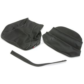Black Carbon Gray Stitch Seat Cover - SB-H03