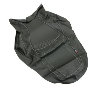 Black Carbon Gray Stitch Seat Cover - SB-H12